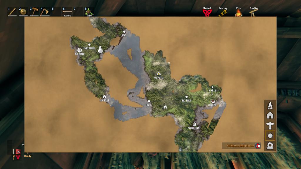 Valheim Elder on map