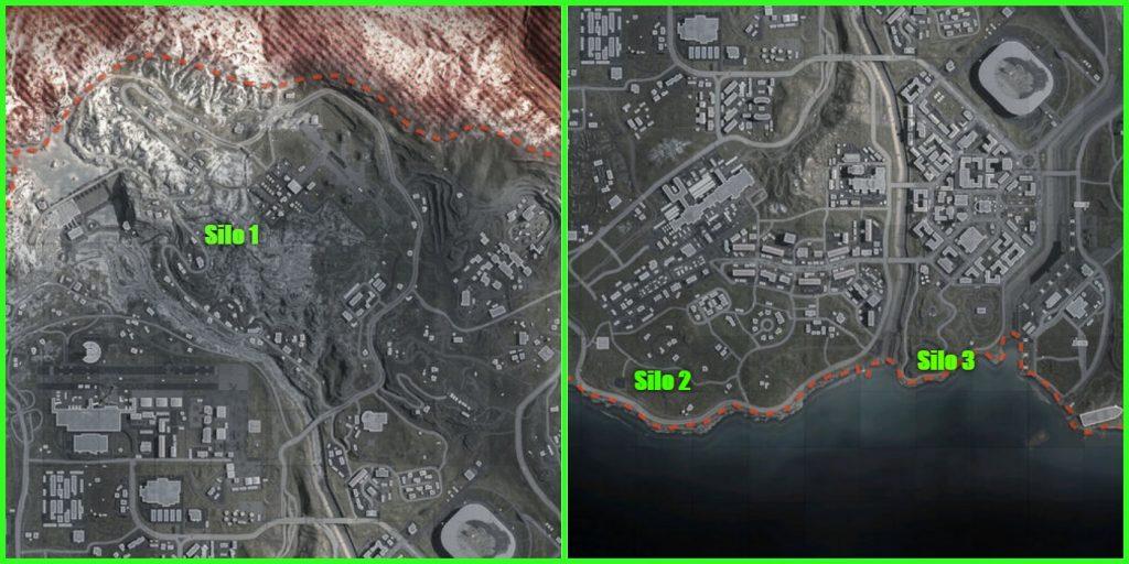 Warzone Silo locations